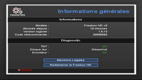 code télécommande Freebox