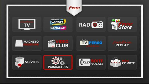 écran d'accueil Freebox